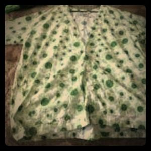 Green Floral Lab Coat